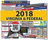 2018�Virginia State & Federal Arbeitsrechts Poster f�r Arbeitsplatz Compliance