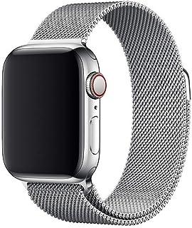Pulseira Milanês Milanese Loop Metal Apple Watch 44mm Prata