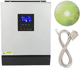 Pure Sine Wave Inverter, 3KVA 2400W Högfrekvensomvandlare, USB Hybrid Inverterladdare Inbyggd Solcentral Adapter för Bilko...