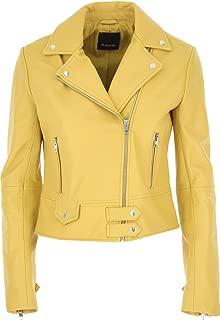 Pinko Luxury Fashion Womens 1G14YLY672H39 Yellow Outerwear Jacket |