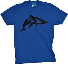 Mens Daddy Shark Tshirt Cute Funny Family Ocean Beach Summer Vacation Tee for Guys
