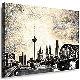Julia-Art Leinwandbilder Skyline - Bild Köln - Wandbild