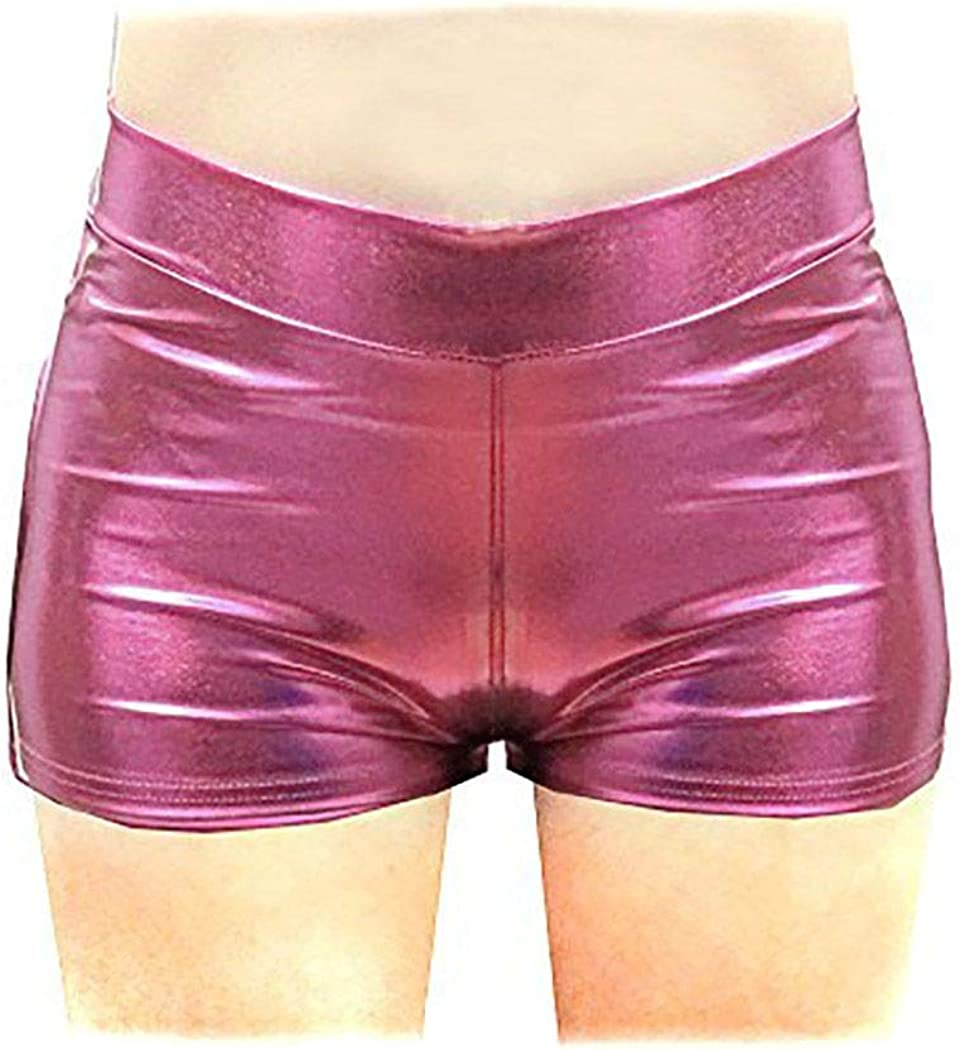 Shiny Stretchy Today's only Metallic New mail order Mini Shorts Cost Hot Pants Halloween for
