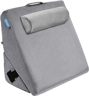 Almohada de cuña de Cama de Espuma viscoelástica, Funda de Almohada Comforts Bed Wedge, posicionadores corporales, Almohada de Apoyo para la Espalda y la Pierna, para Reducir el Dolor de Espalda