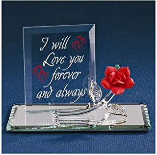 Glass Baron Forever Red Rose Figurine
