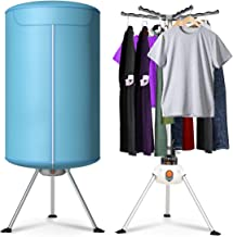 COSTWAY Portable Ventless Laundry Clothes Dryer Heater 900W Electric Folding Indoors Fast Air Dry Hot Drying Machine with Heater for Home & Dorms