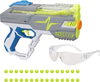 Nerf Hyper Rush-40 Pump-Action Blaster, 30 Nerf Hyper Rounds, Eyewear, Up To 110 FPS Velocity, Easy Reload, Holds Up to 40...