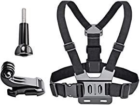VVHOOY Adjustable Chest Mount Harness Compatible with Gopro Hero 7/6/5 Black Hero 4 Session AKASO EK7000 Brave 4 APEMAN FITFORT Dragon Touch Campark Crosstour Action Camera Accessories