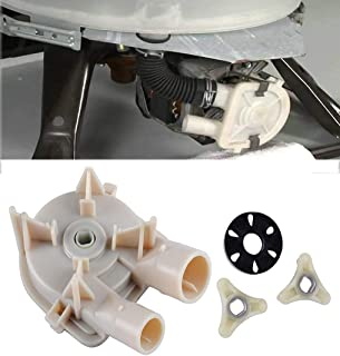 Podoy WP3363394 Washer Drain Pump for Whirlpool Kenmore 3363394 with 285753A Washer Motor Coupler Estate Roper KitchenAid Replaces 3352492 3348215 3348014 3363394 3348015 WP3363394 AP6008107