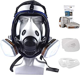 Large Respirator Gas Facepiece 15 In 1 Full Face Spraying Painting for 6800 - Big View - Anti-Fog Face Shield - Voice Diap...
