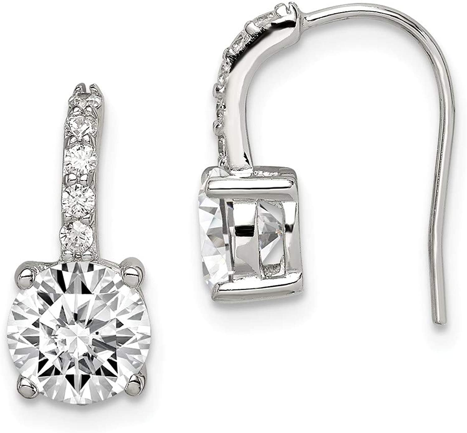 Beautiful Sterling silver 925 sterling Sterling Silver CZ Earrings