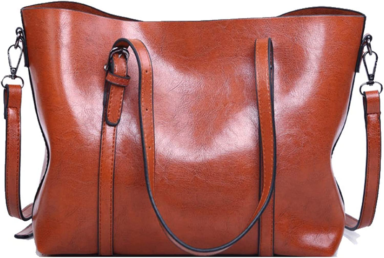 Frauen Retro Umhängetasche Große Kapazität Einfache Handtasche Mode Wilde Umhängetasche PU Multifunktions Tote Bag Reise Arbeit B07MQ4S3G2  Reichhaltiges Design