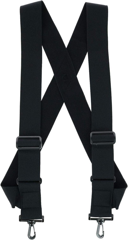 1 Pcs Elastic TSA Compliant Side Clip Suspenders with Swivel Hook Ends