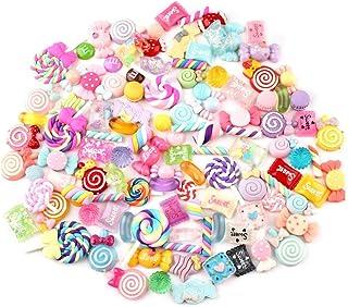 Slime Perles, 30 Pièces Coloré Loisirs Créatifs Ornement Bonbons Flatbacks Résine Accessoires Faisant Fournitures pour Étu...