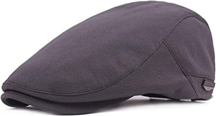 2019 Women Quilted Peaked Cap for Men Cotton Adjustable Flat Cap Duckbill Newsboy Gatsby Irish Hat 55-59cm (Color : 2, Size : Free Size)
