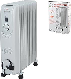 DCG Eltronic RA2809 Color blanco 2000W Radiador - Calefactor (Radiador, Aceite, Piso, Color blanco, Giratorio, 2000 W)