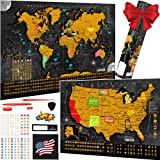 Best World Maps - Scratch Off World Map Poster - 17x24 Inches Review