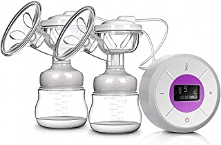 2-in-1 Double Electric Breast Pump Portable Nursing Breast Massager Smart Breastfeeding Pump 3 Adjustable Mode and 9 Pumpi...