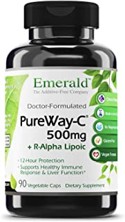 Emerald Labs PureWay C 500mg + R-Alpha Lipoic Acid - Supports Healthy Immune System Response and Optimal Liver Function Su...