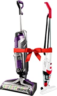 (B07NDNBXGC) Bissell Crosswave Cordless Pet, 2588E + FREE (B072XPQ5XJ) Bissell Featherweight 2024 2in1 upright Vacuum wort...