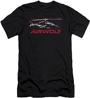 Airwolf Grid Slim Fit Adult T-Shirt in Black