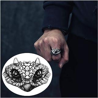 خاتم من الفضة الإسترلينية المنقوش للرجال مقاس قابل للتعديل للرجال والنساء 15.7 جرام أفضل خيار للهدايا