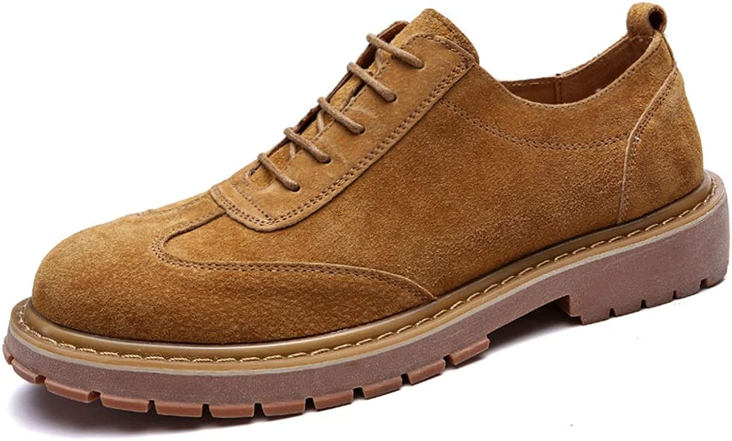 XIANGBAO-Personality Men's Fashion Oxford Casual Comfortable Stave Toe Outsole Retro Wipe Colour Formal shoes
