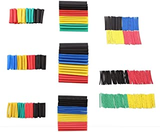 ELECTRONIC-MEI Heat Shrink Wrapped Shrinking 328Pcs Insulation Sleeving Thermal Casing Car Electrical Cable Shrink Tube Tube kit Wrap trousse,164pcs