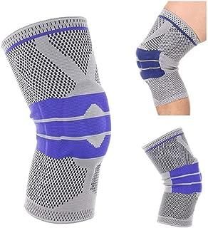 Profesionales Rodillera de Silicona Apoyo de la Rodilla Transpirable Rótula Dolor en la Rodilla del Menisco, la Artritis y la ACL, Fútbol (L)