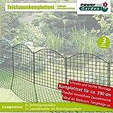 PowerTec Garden Teichzaun Oberbogen Anthrazit