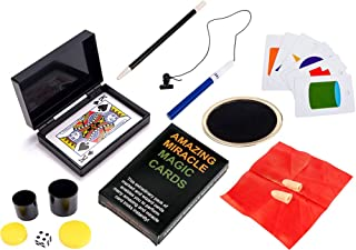 BrilliantMagic Green Box Kids Magic Set Includes Seven Amazing Easy Magic Props for Young Magicians to Make a Magic Show BMM008