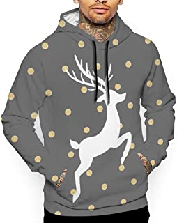 Gold and Grey Free Christmas T-Shirt Hooded with A Pocket Rope Hat Customization Fashion Novelty 3D Men's