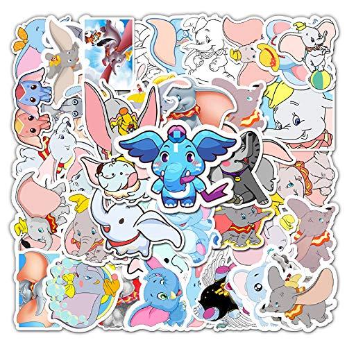 LVLUO Xiaofei Elefante Impermeable Graffiti Maleta refrigerador teléfono móvil Guitarra Plana portátil Pegatinas de Dibujos Animados 50 Hojas