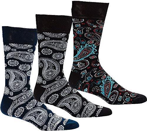 """socksPur SOCKS PUR Herrensocken Trendmotiv """"Paisley"""" 2er PACK (43-46, Paisley: schwarz-weiß)"""