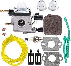Kizut C1Q-S68G Carburetor w Air Filter for Stihl BG55 BG45 BG46 BG65 BG85 SH85 SH55 Leaf Blower Zama C1Q-S68 Carb # 4229 120 0606 Parts Fuel Line Filter Primer Bulb
