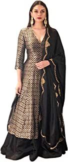 Flared Banarsi Silk Brocade Kurta with Sharara.