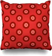 iDecorDesign Throw Pillow Covers Botswana Red Southern African Pattern German in Dress Lesotho South Africa Abstract Graphic Home Decor Pillow Case Square Size 18 x 18 Inches Pillowcase