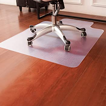 Amazon Com Goplus Pvc Chair Mat For Hardwood Floor Clear Multi Purpose Floor Protector For Office And Home Anti Slip Floor Protective Mats 48 X 36 Office Products
