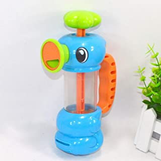 Sylviaian Baby Shower Bath Toys for Children Kids Bathtub Bathroom Swimming Pool Hippocampus Spray Water Pump Beach Toys E...