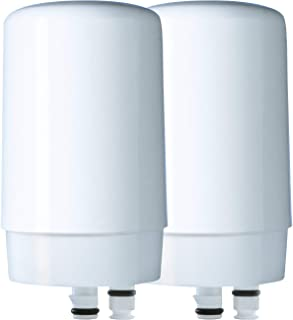 Brita 36311 On Basic On Tap Faucet Water System Replacement Filters, 2ct, White