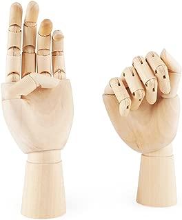 12Inch Mu/ñeca Articulada Modelo Dedos de madera Arte de maniqu/í Decoraci/ón ficticia Falso Izquierdo Derecho Ligero Flexible 7 pulgadasMano derecha Maniqu/í de mano 7//10