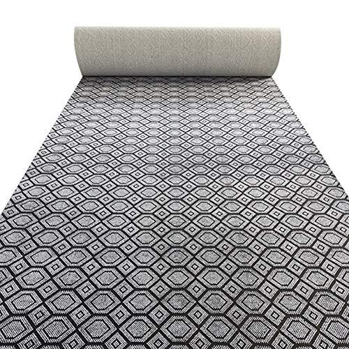 JLXJ Grey Modern Carpet Runner, Trellis Pattern Non-Slip Backed Hardwearing Rugs for Indoor Outdoor Hallway Hall Office (Size : 120×150cm(4ft×5ft))