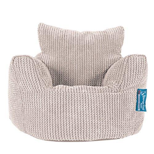 Lounge Pug®, Kindersessel Sitzsack, Sitzsack Kinder, Pom-Pom Creme