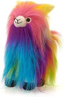 Fiesta Toys Shaggimals Shaggy Llama Rainbow Colors Fuzzy Standing Stuffed Animal Toy - 11 Inches