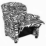 The Crew Furniture 649850 Urban Child Recliner Black Vinyl