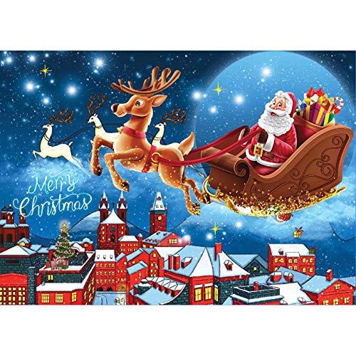 HeNai Weihnachtsthema 1000-teiliges Puzzle für Erwachsene Kinder, 70x50 cm Schneemann-Puzzles/Weihnachtsmann- und Elch-Puzzle, lustiges Familien-Weihnachtsspiel-Papier-Puzzle für die Wanddekoration