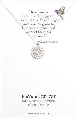 Maya Angelou: A Woman Is Careful with Judgment Necklace