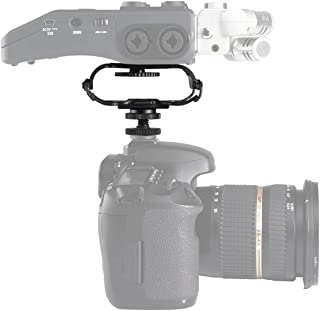 Shock Mount for Camera Recorder, BOYA BY-C10 Universal Microphone and Portable Recorder ShockMount - Fits the Zoom H4n, H5, H6, Tascam DR-40, DR-05, DR-07 with 1/4