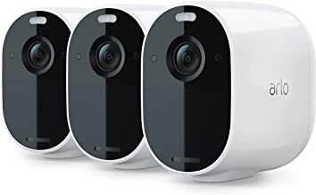 Arlo Essential Spotlight CCTV 3 Camera System | Wireless WiFi, 1080p Video, Color Night Vision, 2-Way Audio, 6-Month Batte...