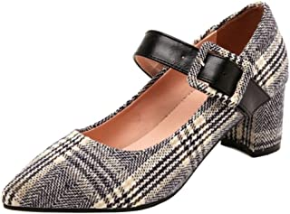 Slenderer Women Fashion Pumps Block Heels Mary Janes